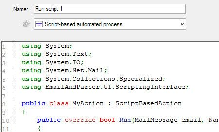 Full program customization via scripting. Create your own actions or text capture methods