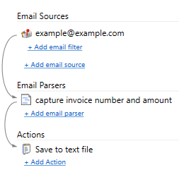 parsing email and saving to a text file