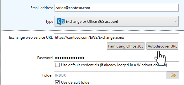 How to set up an Exchange or Office 365 email account