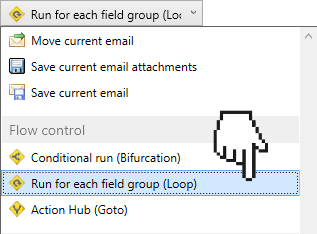How to run an action multiple times - Email Parser software