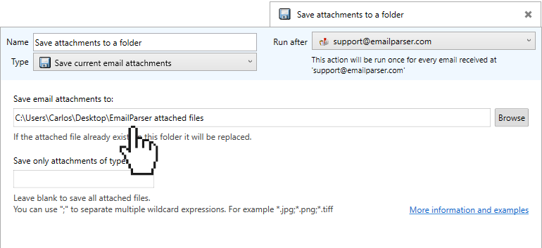 How to store an email attachment in a MySQL database - Email