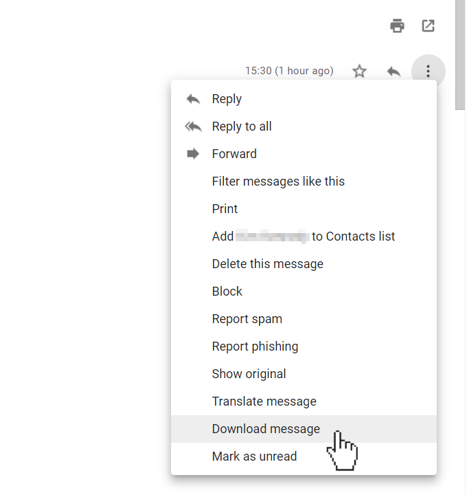 Downloading emails from Gmail